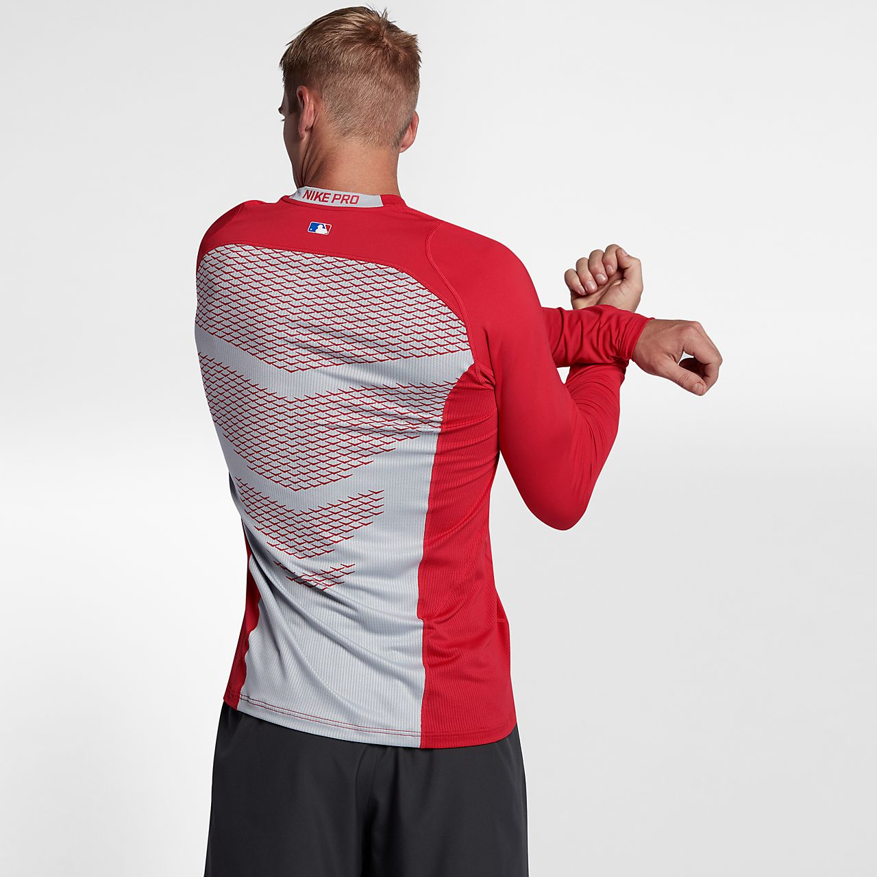 cffa9058c07ca5 Nike Boys Pro Combat Core Compression Long Sleeve Shirt – EDGE ...