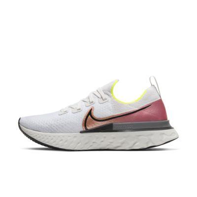 나이키 Nike React Infinity Run Flyknit,Platinum Tint/Pink Blast/Total Orange/Black