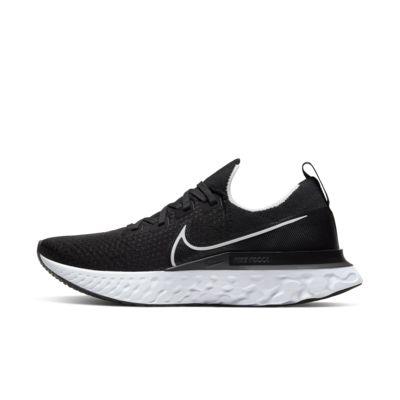 나이키 Nike React Infinity Run Flyknit,Black/Dark Grey/White