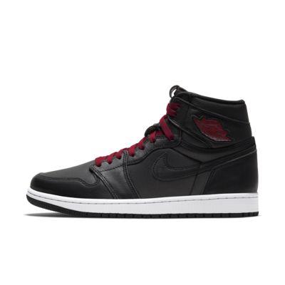 나이키 Nike Air Jordan 1 Retro High OG,Black/Metallic Silver/Gym Red/Black