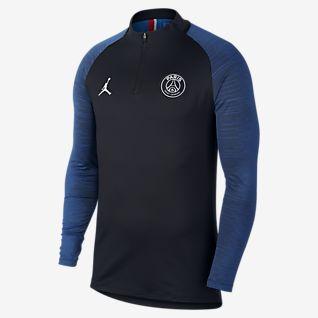 Nuovo Kit Tuta Allenamento PSG Jordan Blu Nero 19 20