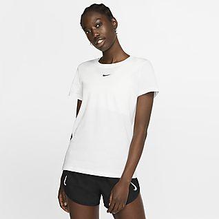 Dame White Overdeler og T skjorter. Nike NO