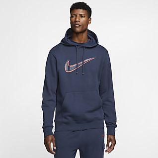 Herren Blau Hoodies & Sweatshirts. Nike CH