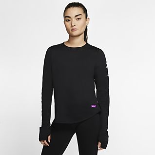 T Shirt Nike colore Bianco Maglia Manica Lunga Donna
