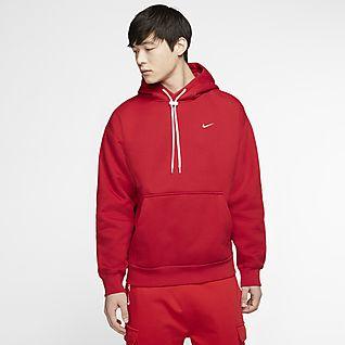 Men's Red Hoodies & Sweatshirts. Nike DK
