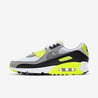 Nike Air Max 90 Essential shoes black grey neon
