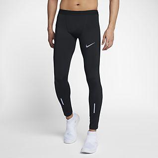 Férfi Fekete Testhezálló nadrágok és leggingsek. HU