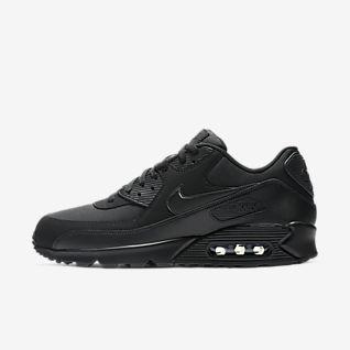 heiß Nike Air Max 90 Essential Mens Trainers Black White