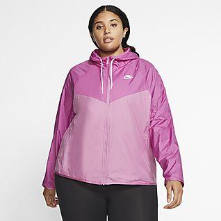 Jaqueta Nike Windrunner c Capuz Rosa e Laranja