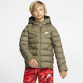 Toddler Boys Sportswear Hooded Puffer Jacket