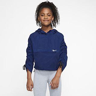 59fabbe057 nike sportswear hoody girls pink white