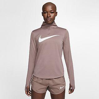 Top da running con zip a 14 Nike Donna