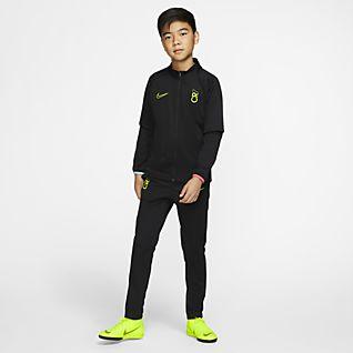 Herren Nike Sportswear Jogginganzug »BOYS TRACKSUIT CORE FLEECE« (Set, 2 tlg) grau, schwarz | 00193146821384