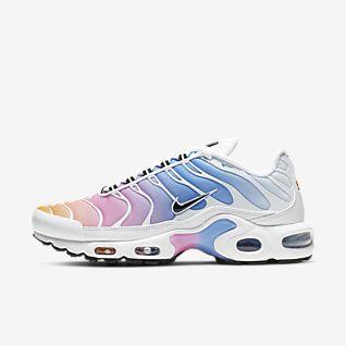 Nike Air Max Plus TN Black Metallic Silver Men's Running Shoes Sneakers