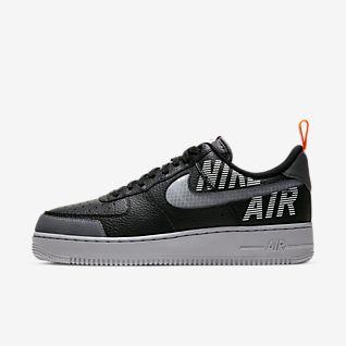 Men's Black Air Force 1 Shoes.