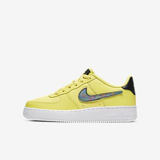 latest discount official store clearance prices Gelb Air Force 1 Schuhe. Nike BE