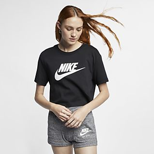 Kvinder Black Toppe og T shirts. Nike DK