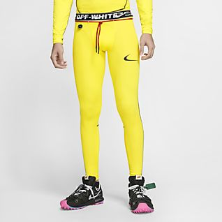 Nike Pro Fluorescent Yellow Dri Fit Leggings Size XS UK 6