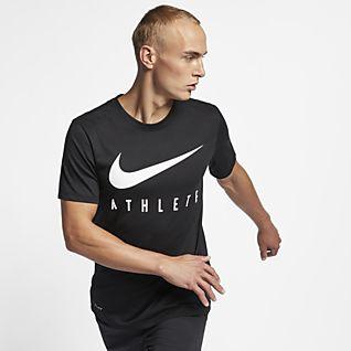 Homem Treino e ginásio Partes de cima e T shirts. Nike PT