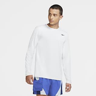 Nike Men/'s Dri-fit Long Sleeve 1//2 Zip Pullover 642039 Green Purple White XL $65