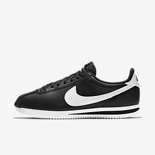 nike cortez black and gold shoes
