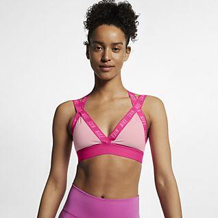 Nike Indy Logo Sports Bra Pink Buy Sports Bras Online