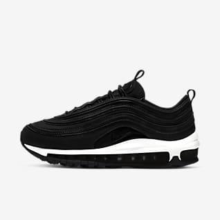 Schwarz Air Max 97 Schuhe. Nike BE