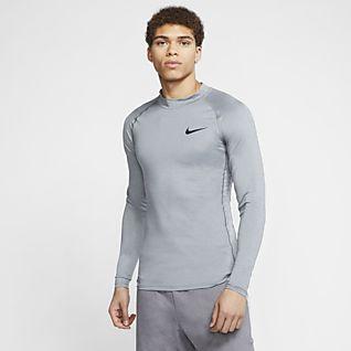 Détails sur Nike Pro Utility Haut Entraînement Hommes Noir Football Football Chemise Sweat