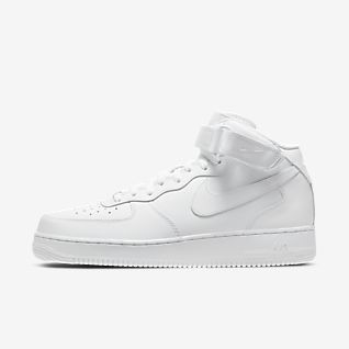 White Air Force 1 Mid Top Shoes. Nike.com