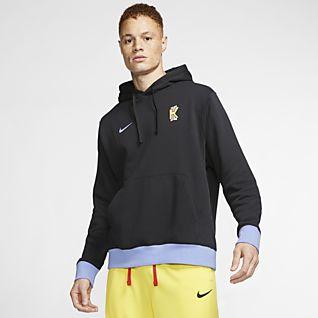 Kyrie X Spongebob Squarepants Men's Basketball Pullover Hoodie in Black