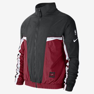 Nike track top red white black