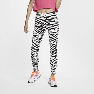 Damen Sporthosen Nike Leggings LEG A SEE LOGO grau