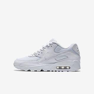 Nike Air Max 90 Leather Metallic Grundschule Schuhe