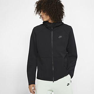 Nike Kapuzenjacke Tech Fleece Hoody schwarz Fussball Shop