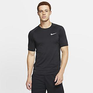 NWT NIKE PRO Mens Half Sleeve Black Compression Shirt Top