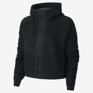 Nike Nike NSW Essential Hoodie Full Zip Fleece (BlackWhite) Women's Sweatshirt from Zappos | Real Simple