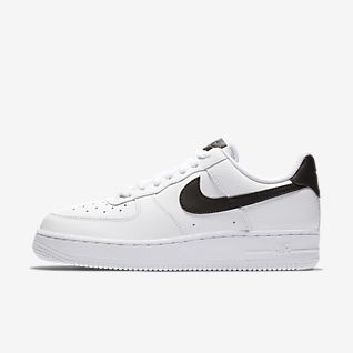 NIKE Air Force 1 AF1 07 SE Premium Black Patent Reflective Silver Sneakers US 8