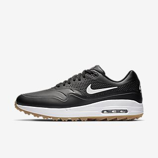 Sport Schuhe Nike Air Max 1 Damen Adidas gold schwarze