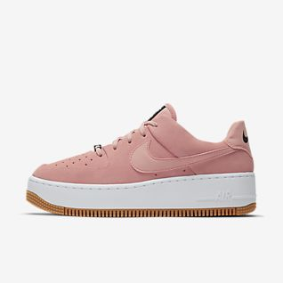 Details zu Nike Air Force 1 Floral Sole Mens Adult Leather Canvas Low Trainers >UK 17