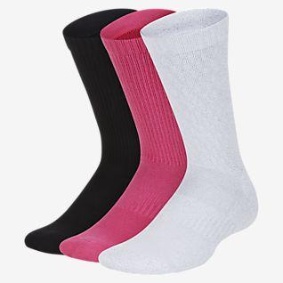 White Nike Everyday Cushion Crew Socks 3 Pack