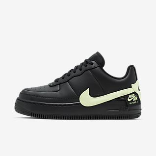 Damen Schwarz Air Force 1 Schuhe. Nike.com AT
