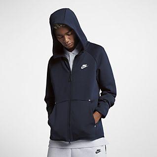 Blu scuro grigio Men/'s Nike Club Felpa Con Cappuccio in Pile Con Cappuccio Felpa Maglione Pullover Nero