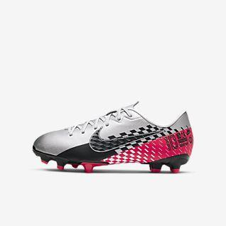 Chaussures Football Nike Mercurial Vapor Xii Silencio Academy Neymar Mg Blanc Noir Junior