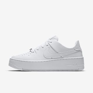 Nike White Nike Air Force 1 Women's Athletic Shoes for sale