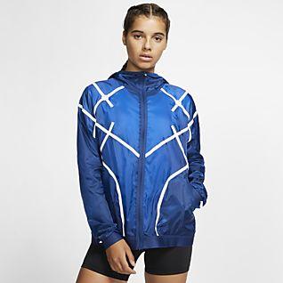 Nike Sportswear Windrunner Women's Jacket Plus Size 1X Blue Gray White Casual   eBay