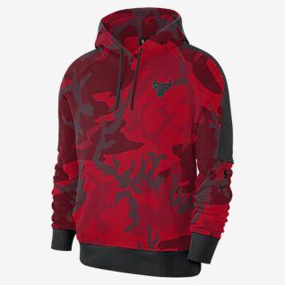 Details about Nike NBA Chicago Bulls Dri Fit Showtime Full Zip Red Hoodie Jacket Sz Medium