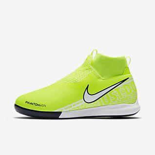 Zapatillas De Futbol Sala Baratas Botas De Futbol Nike Phantom Vision TF Blanco Negro Rojo Moqueta