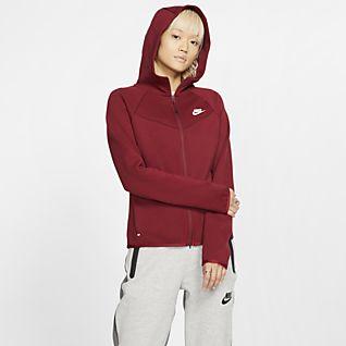 Femmes Rouge Sweats à capuche et sweat shirts. Nike MA