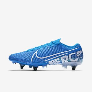 chaussure de foot nike mercurial bleu