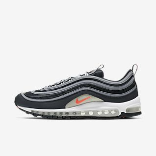 NIKE AIR MAX 97 Mens Black Sport Shoes Size:UK 11 EU 46 30 cm